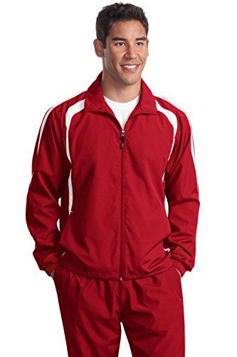 Sport-tek Herren Raglan (Sport-Tek® Colorblock Raglan Jacket. JST60 True Red/White 4XL)