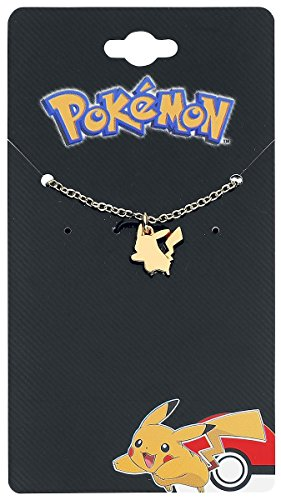 Womens ufficiale inox acciaio PVD oro placcato collana ciondolo di Pikachu