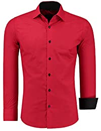 Jeel Combinaison à Manches Longues Chemise Basic Business Loisirs Mariage Slim Fit, Taille S - 6XL
