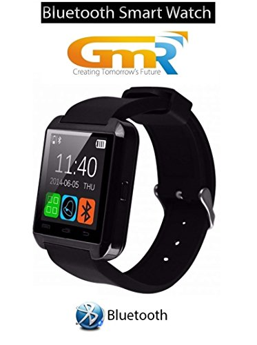 Original GMR U8 Bluetooth Smart Watch Phone. Wireless Connectivity, BT Camera. Receive Notifications from Facebook, Whatsapp, QQ, WeChat, Twitter, Fitness & Activity Tracker, Time Schedule, Read Message or News, Sports, Health, Pedometer, Sedentary Remind & Sleep Monitoring. Digital Touch Screen Display, Loud Speaker, Mic & Multi-Language Support. Compatible with Tablet, PC & iOS, Android, Blackberry, Windows Phones. Black Colour