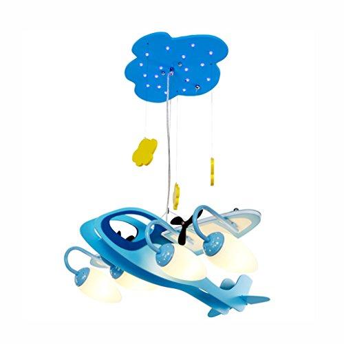 Best wishes shop lampadario- Luci per aeromobili Camera per bambini Lampadari Ragazzi Camera da letto Luci Semplice e moderna Lampada creativa per soggiorno Lampade E14
