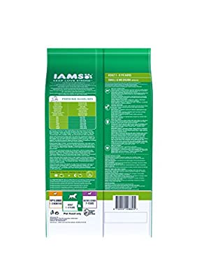 Iams Adult Small/Medium Breed Chicken Dog Food 3kg by Iams