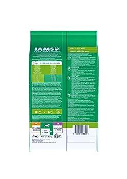 IAMS - Croquettes pour Chien Adulte Petite et Moyenne Race - Poulet - 12kg
