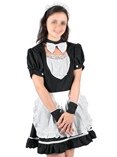 CoolChange Maid Cosplay Kostüm mit Schürze, Größe: - Aschenbrödel Kostüm Für Erwachsene