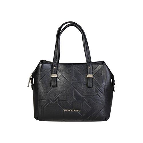 Versace Jeans Borsa Donna z Dis.6 Grana Embossed Nero
