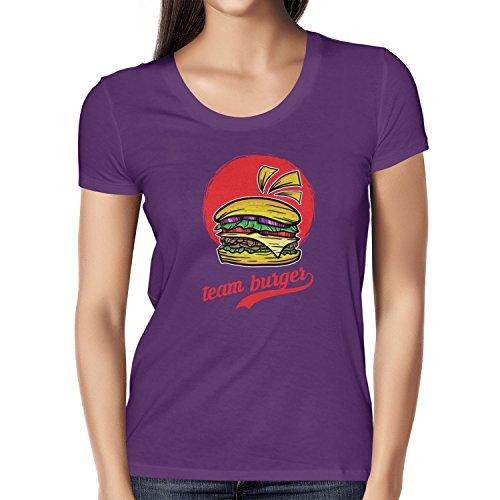 TEXLAB - Team Burger - Damen T-Shirt Violett