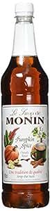 Monin Pumpkin Spice Coffee Syrup 1 Litre Plastic Bottle Costa Starbucks Pumpkin Spice Latte