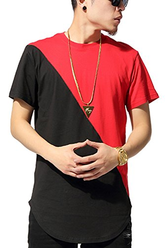 Pizoff Unisex Hip Hop Urban Basic Langes T Shirts mit Tarnmuster Y1293-Red