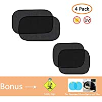 YGZN Car Window Sun Shade, Car Sun Shades for Baby UV Sun Rays Protection Static Window Shade Universal Size for All Cars,4Pack (2 x 50 * 30cm+2 x 44 * 36cm)