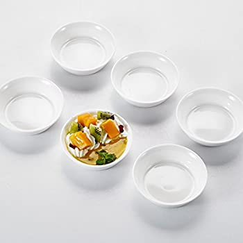 etc Dips 6 kleine eckige Porzellansch/älchen // Sch/älchen f/ür Kochzutaten Tapas 8x8x4 cm B-Ware inkl Gew/ürze einer kleinen Holzschaufel 7,5 cm
