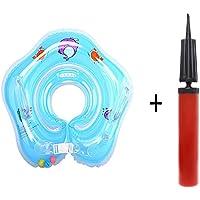 Muxuan Flotador Cuello Bebe - Ajustable Inflable Doble Airbag Flotador Cuello para 1-18 Meses Bebé
