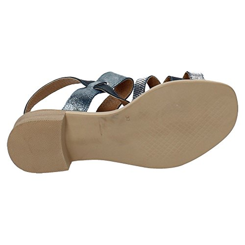 NOELIA , sandales femme Bleu marine-Argenté