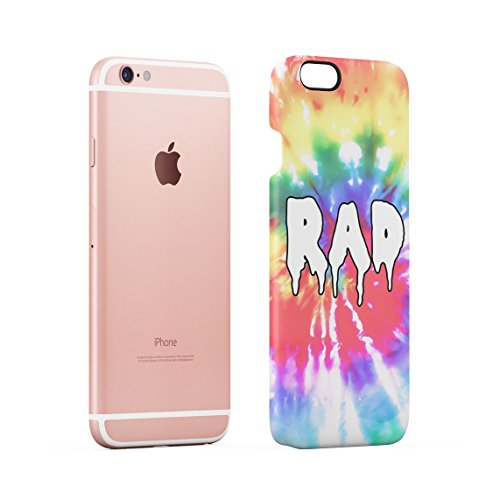 Good Vibes Only Trippy Tie Dye Dünne Rückschale aus Hartplastik für iPhone 6 Plus & iPhone 6s Plus Handy Hülle Schutzhülle Slim Fit Case cover Melting RAD