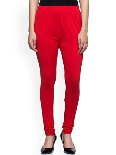 PI World Premium Leggings Churidar Ankle Length made of Soft Stretch Comfortable Breathable Cotton Mix Lycra Solid colors (Multi Color Free Size XL 30 to 36 Inches XXL 34 - 40 Inches Waist)  available at amazon for Rs.249