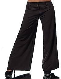 H930 Damen Business Stoffhose Elegante Bootcut Hose Classic Schlaghose Schlag