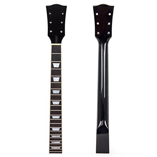 Kmise mi0586E-Gitarre Hals für Gibson Les Paul Ersatz Mahagoni Palisander 22Bünde - Paul Les E-gitarre