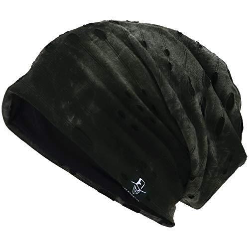 VECRY Herren Jersey Slouch Mütze Sommer Skullcap (B-Grün, Dünn Cool) Knit Slouch Hut