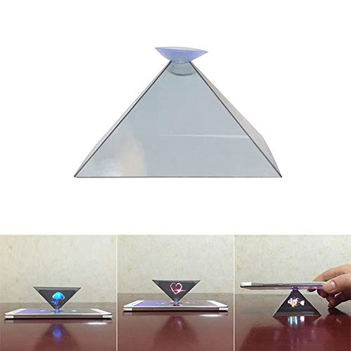 rijtus 3D Hologram Pyramid Display Projector Video Stand Universal for Smart Mobile Phone