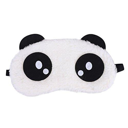 ITODA süße Schlafmaske, weich, flauschig, Schlafschutz, Augenklappe, tragbar, für Reisen, Nickerchen, Flugzeug, Reisen Panda Pattern