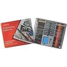 Derwent Sketching Collection - Set de 24 lápices para dibujo técnico
