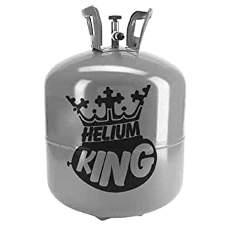 Helium King Gas Bottle / Disposable Gas Cylinder / Cannister - Fills 50 9 Inch Balloons