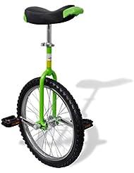 vidaXL Verde Ajustable monociclo 20pulgadas