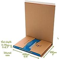 Buch CD DVD Kartusche Umwickeln C1 C2 C3 C4 C5 Post Schachteln Selbstklebender Streifen Einfach Reißstreifen Mail Bereit Karton Umwickeln - C4 (326x280mm)