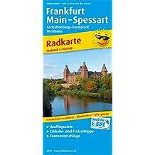 Frankfurt - Main - Spessart, Aschaffenburg - Darmstadt, Wertheim: Radkarte mit Ausflugszielen, Einkehr- & Freizeittipps, wetterfest, reissfest, abwischbar, GPS-genau. 1:100000 (Radkarte / RK)