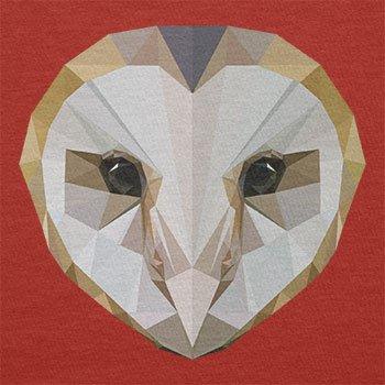 TEXLAB - Poly Owl - Herren Langarm T-Shirt Rot
