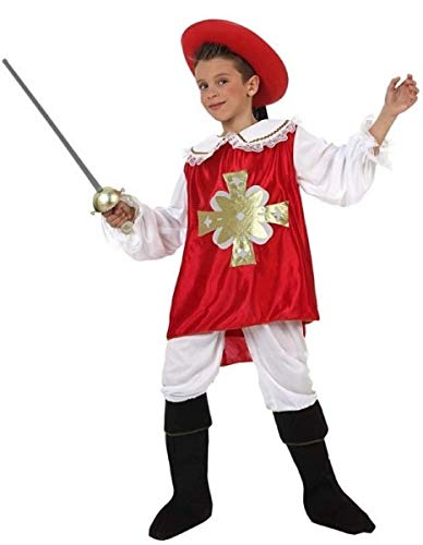 Fancy Me Karnevalskostüm für Jungen, mittelalterlicher roter Musketierer, Karneval, Weltbuch-Kostüm, 3-12 Jahre