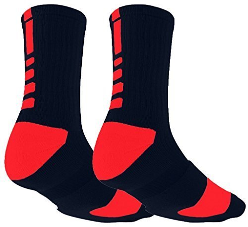 Aisprts Herren Sport-Socken, hohe Qualität, für Basketball, Fußball, Wandern, Laufen, erhältlich in weiß, schwarz, rot, grau EU 39-45 (Rot)
