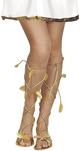 035c44bc5052e Roman Greek Gold Goddess God Sandals Xena Princess Leaf Venus Ladies Mens  Girls Shoes Footwear Fancy Dress Costume Accessory by BOLAND BV