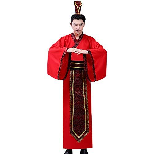 BOZEVON Uralt Chinesisches Kostüm - Männer Uralt Klassik Hanfu National Traditionell Elegant Kleidung Chinesischer Stil Retro Cosplay Kostüm, Stil 01, EU L = Tag - Traditionelle Chinesische Frau Kostüm