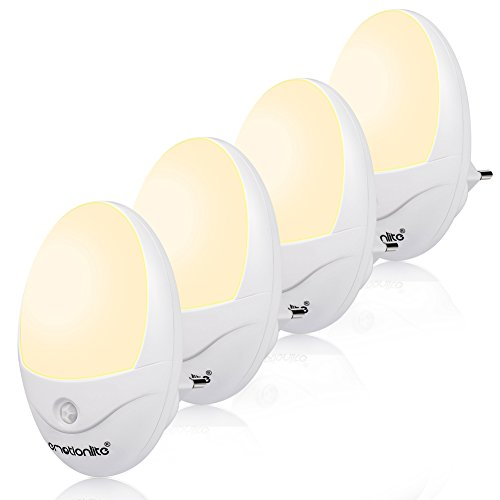 Emotionlite Nachtlicht Steckdose Bewegungsmelder und Lichtsensor 4 Stück -
