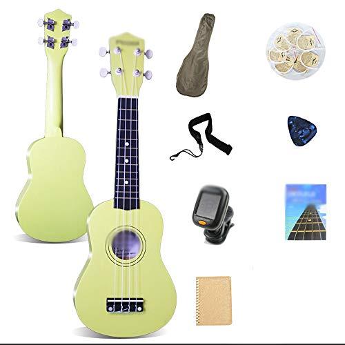 LIBILAA Ukulele 21-Zoll-Anfängerschüler Erwachsene Uklele Eintritt Kinder kleine Gitarre Generation ( Color : Grün )