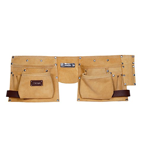 l'ange Leather 9 Pocket Toolkit Bag Holster (Yellow)