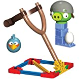 K'Nex Angry Birds Blue Bird vs. Helmet Pig Building Set [29 PCS]