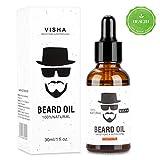 Olio di Barba, Aiemok 30ml Olio Cura Barba per Uomo Cura Barba, 100% Naturale Organico Ammorbidente Migliore per La Crescita della Barba, Ammorbidire Idratante per Barba Uomo, Riduci il Prurito