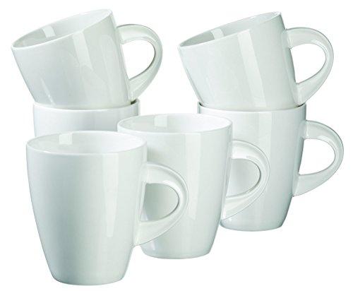 MÄSER, Serie La Musica, Kaffeebecher 400 ml, Porzellan Kaffeetassen im 6er-Set