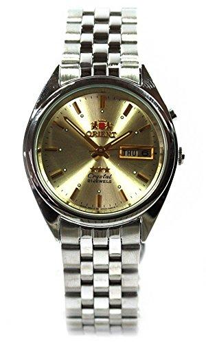 Orient Classic Silver Día Fecha Señor redondas reloj de pulsera fem0401tc9