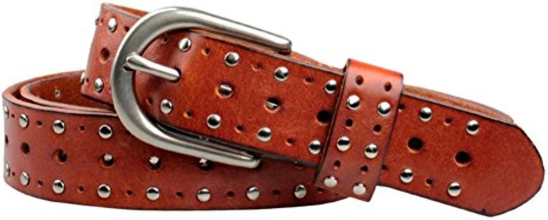 Cintura pelle in pelle Cintura ladys Personalità rivetto cintura Cintura di  moda selvaggia Parent 55a55e 0f5520a507c5