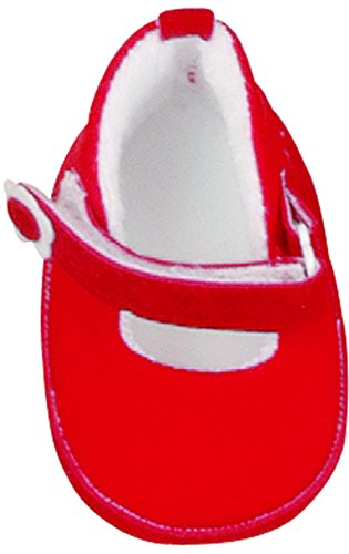 Käthe Kruse 33370 - Spangenschuhe für Puppen, rot