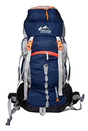 Himalayan-Adventures-60-Ltrs-Dark-Blue-BackpackRucksackTravelling-BagHiking-BagAdventure-BagCamping-Bag-Nylon-HA-8111Dark-Blue