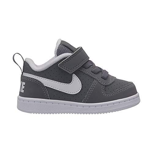 Nike court borough low (tdv), scarpe da basket unisex-bambini, grigio (cool grey/white 002), 25 eu