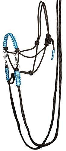 Knotenhalfter mit Zügel Größe Pony blau