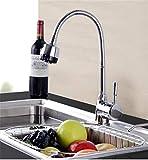 Willsego Lanzamiento Fregadero Giratorio de la Cocina Grifo Frío y Caldo Verduras Lavamanos Lavadero Bañera Lavamanos (Color : -, tamaño : -)