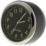 Gazechimp Reloj Analógico con Batería Montaje Panel de Instrumentos Herramienta para Coche #Fluorescente Negro