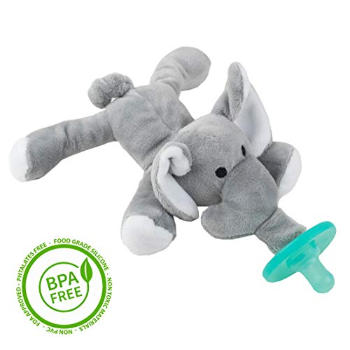 Elefant-Schmusetier Schnuller, Baby Silikon-Sauger Schnuller BPA Frei, Tier Softes Kuscheltier, Plüschtier (Elefant)