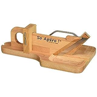 Bron Coucke So Apéro-Wurstschneidebrett- Herstellung 100% in Frankreich, Holz, Holz, 27,94 x 15,6 x 10,2 cm