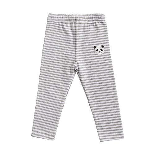 Sanlutoz Bambin Nourrisson Rayure Coton bébé Leggings Dessin animé Unisexe des Gamins Un Pantalon Doux (18-24 mois/90cm, KPW8143-GY)